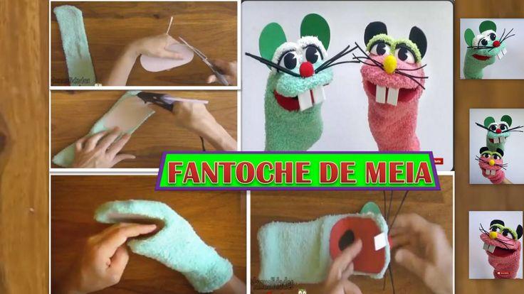 Aprenda a fazer lindo FANTOCHE de MEIA !!! Muito legal !