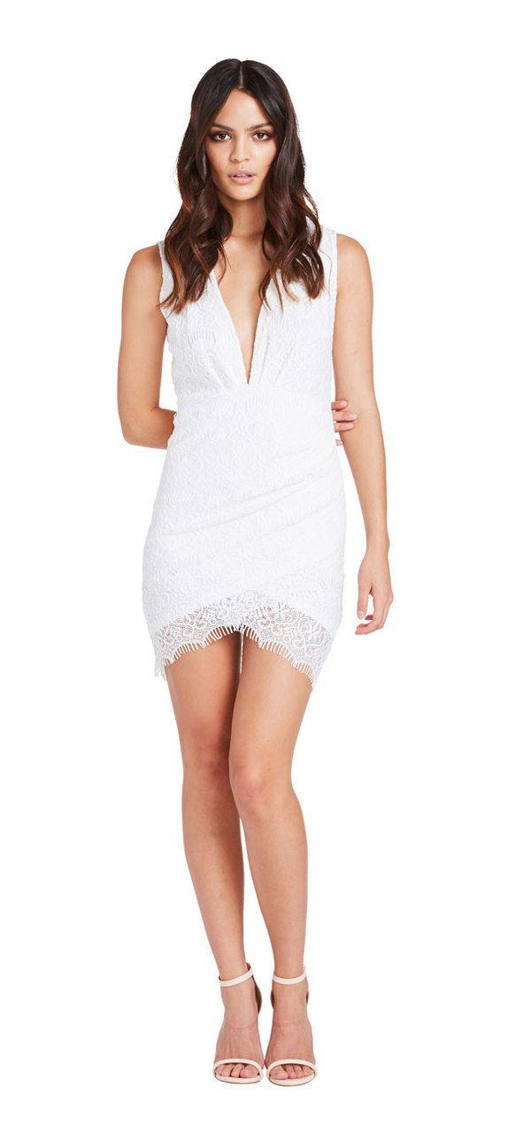Dynasty Dress (White) - Miss G