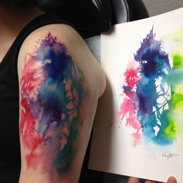 2017 trend Watercolor tattoo - Abstract Watercolor Tattoo