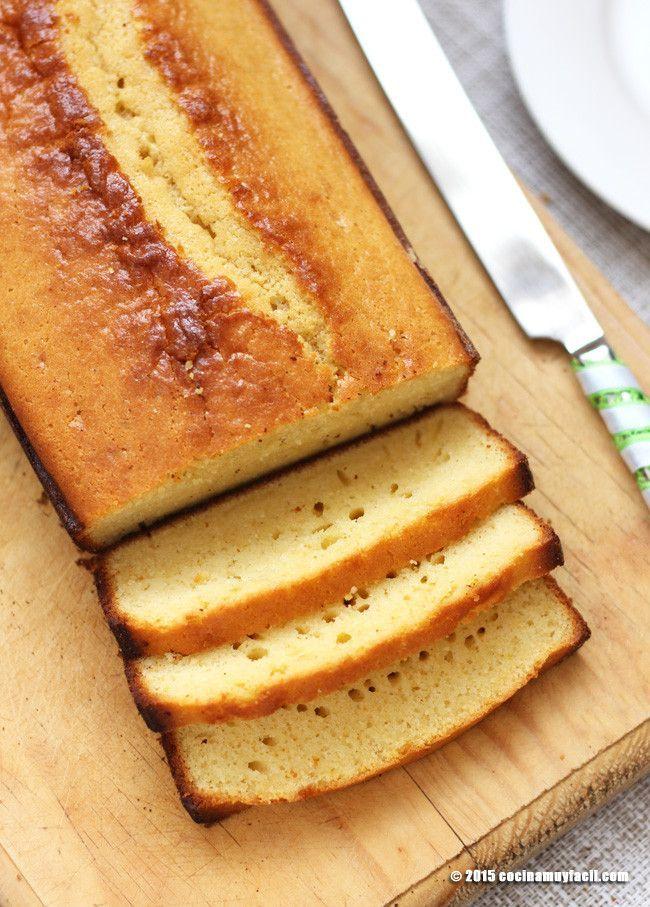 Para el desayuno o la merienda: Pan de natas casero #receta http://cocinamuyfacil.com/panque-de-nata-receta/