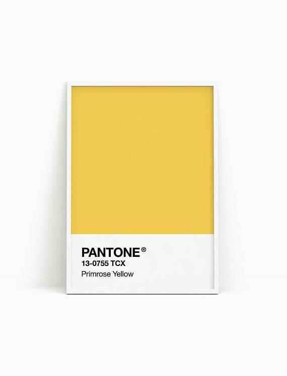 Pantone print Pantone poster Pantone wall art Printable