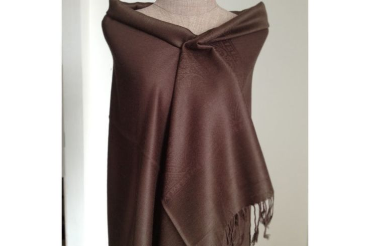 http://www.pashminacachemire.com/pashmina/85-pashmina-marron.html écharpe pashmina cachemire marron laine homme et femme - cashmere pashmina scarf man and womaan brown color