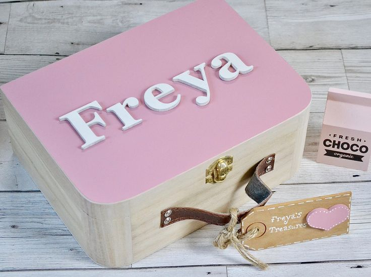 Excited to share the latest addition to my #etsy shop: Personalised Memory Keepsake Box, Girls pink memory box, keepsake box for girls, christening gift, girls wooden keepsake box, baby gift #pink #birthday #easter #memorybox #personalizedbaby