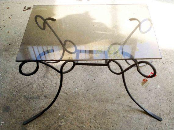 Tavolino da salotto rettangolare base in di artisticwroughtiron