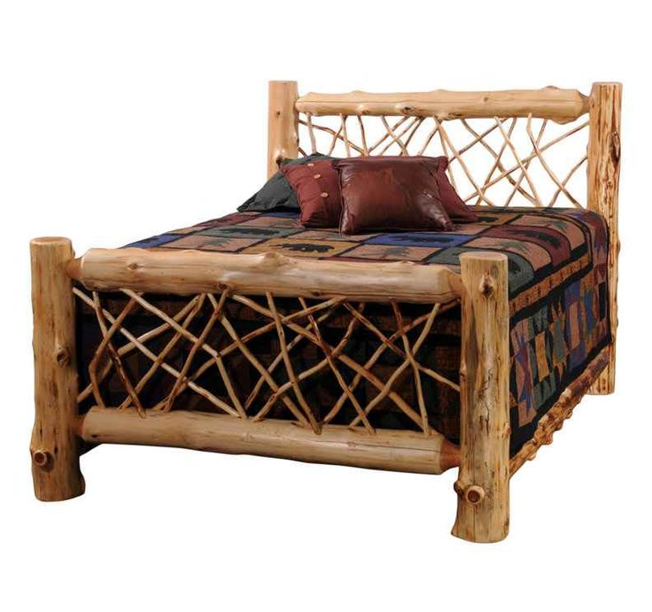 beautiful log bed