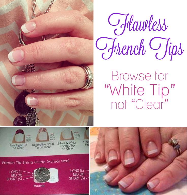 Jamberry's french tips come in 3 sizes: short, mid, & long. Here is a great reference when you're choosing a size. Put a dime on the base of your nail. If the white of your nail is at the L order short, if it is at the I order mid, and if it is at the B order long. You are measuring the length of your nail bed, not the length you'd like the white of your nail to be. Start shopping:   www.StephsNails.com