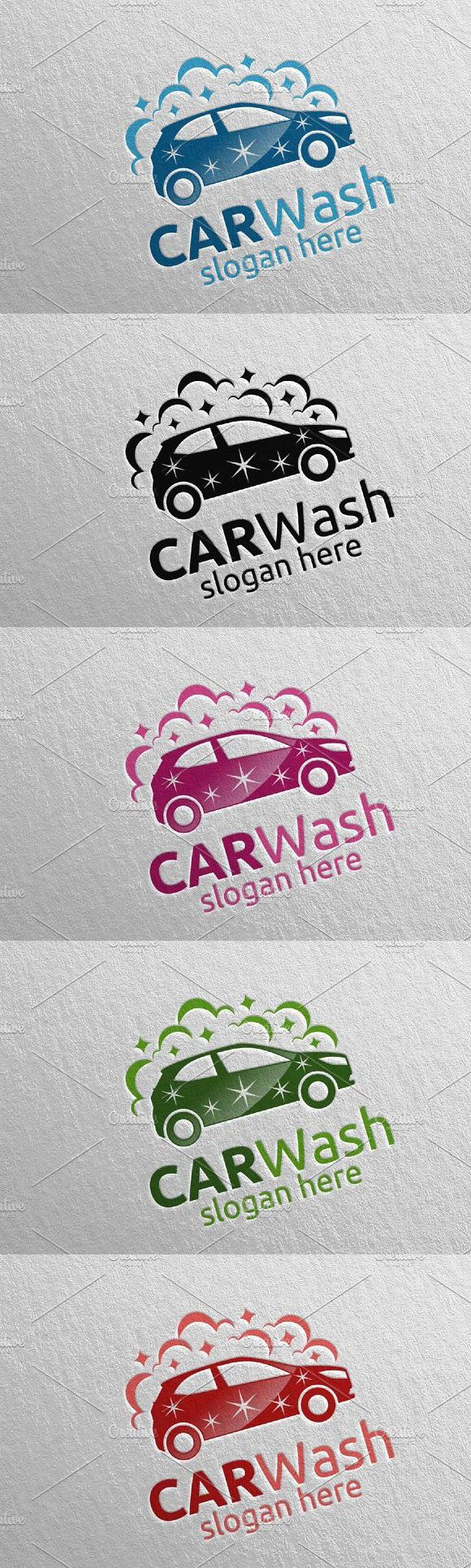 Car Wash Logo, Cleaning Car Logo 16 Wash logo, Car wash