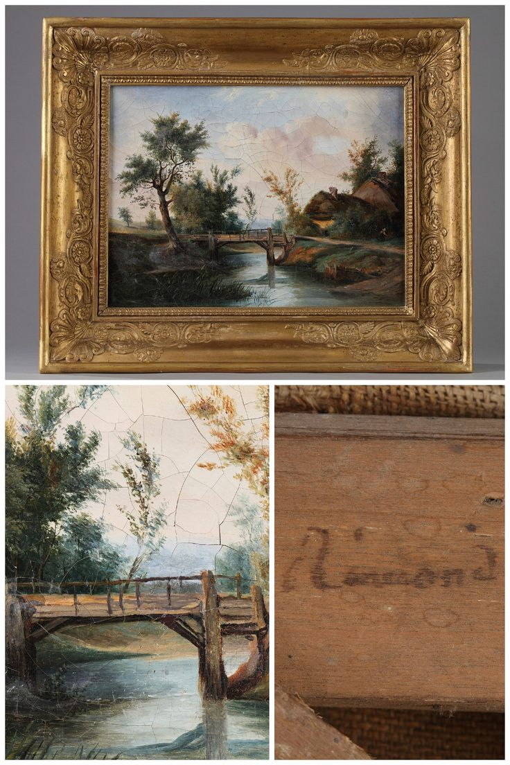 69 best french antiques images on pinterest french antiques oil on canvas featuring a countryside landscape attributed to jean charles remond signed and dated on the rear frame support remond and 5 fvrier jeuxipadfo Image collections