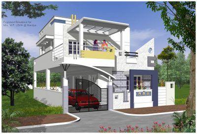 diseños de casas modernas de dos pisos pequeñas