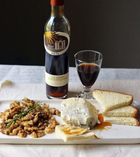 vin santo, gorgonzola, honey and walnuts