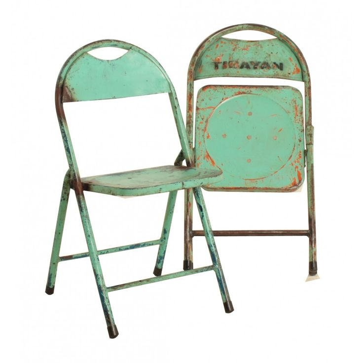 Vintage klapstoelen mintgroen