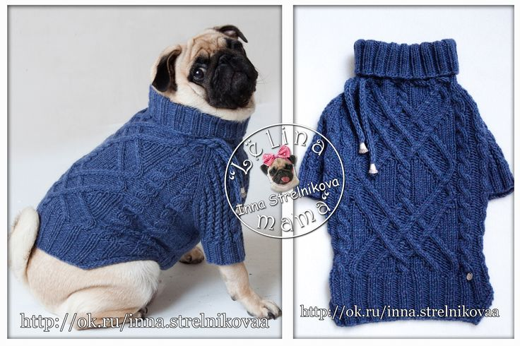 Джинсовый свитер на француза #джинс #араны #handmade #хендмейд #pug #pugs…