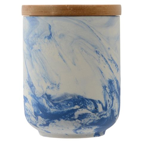 Olsen Marble Blue Canister - Small