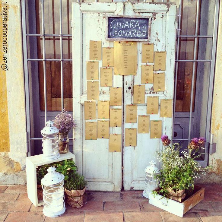 #Vintage #wedding #tableau on a door