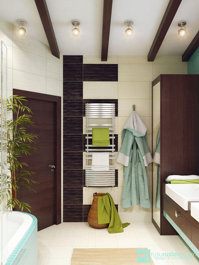 Modern Bathroom Designs With Different Special Color Theme By Rusu Ruslan