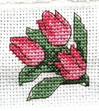Spring 2003  Tip toe through the tulips  hand towel