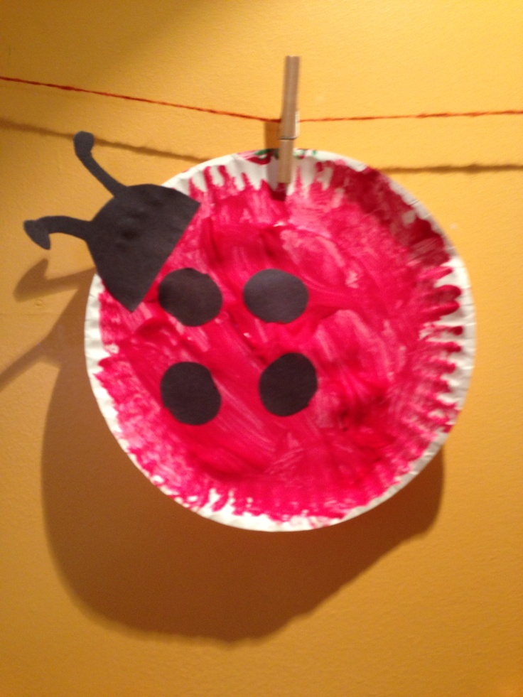 Bug theme: paper plate ladybugs