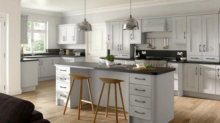 Best Buckingham Dove Grey Kitchen Grey Shaker Kitchen 400 x 300