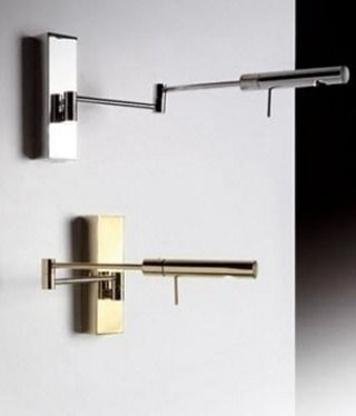 ADJUSTABLE WALL LAMP IN ALUMINIUM AND BRASS. COMFORTABLE LIGHT COLOR TEMPERATURE MAKES IT A PERFECT READING LIGHT (CRI>80 – 3000K). 24K GOLD, NICKLE MATT OR CHROMED FINISH. PERFECT FOR: BEDROOM OFFICE. @customlighting Reposted Via @customlighting