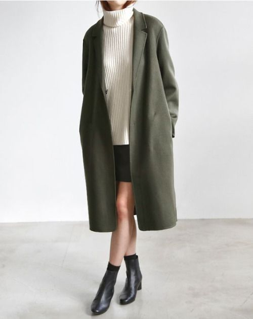 duster coat and ankle boots