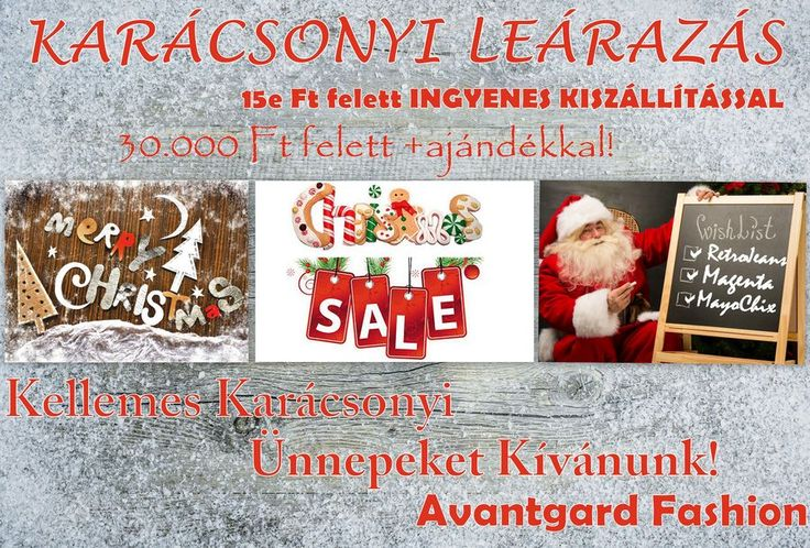 15ezer forint feletti vásárlás esetén ingyen házhoz visszük a termékeket.   http://www.avantgardfashion.hu/