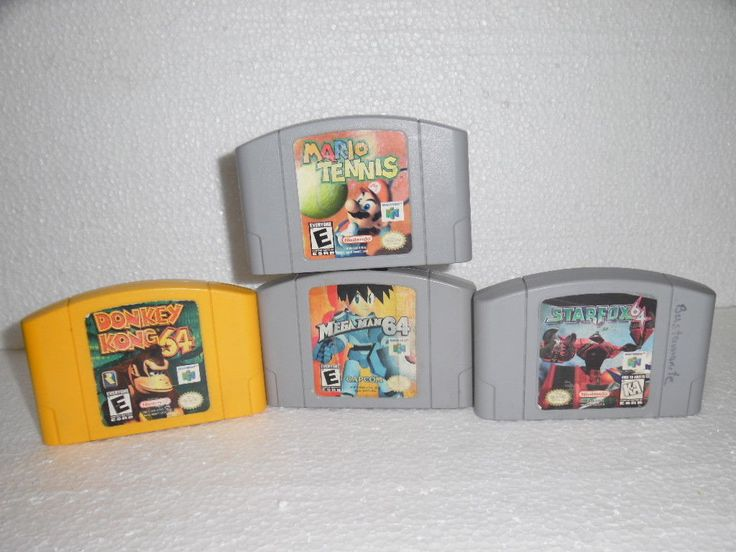 Donkey Kong 64 ,Mario Tennis Mega Man 64, Star Fox 64 , Nintendo 64 games: $71.99 (0 Bids) End Date: Tuesday Feb-27-2018 20:16:00 PST Bid…