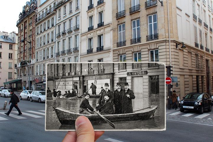Photo Series Compares Modern-Day Flooding in Paris to Great Flood of 1910 - My Modern Met