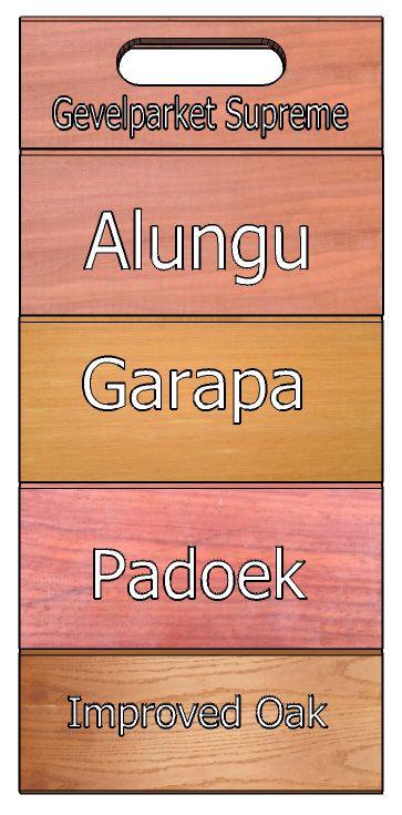 Awood heeft een voorbeelden bord gemaakt met de verschillende Gevelparket Supreme bekledingen. Prima te gebruiken voor tuinwanden en bekleden van gevels.
