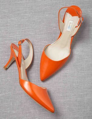 Sixties Slingbacks - High-shine, bold color with pointed toe. Go 4 it!