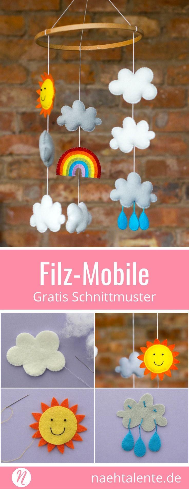Baby-Mobile – Anleitung für ein fröhliches Wetter-Mobile für Kinder und Babie…