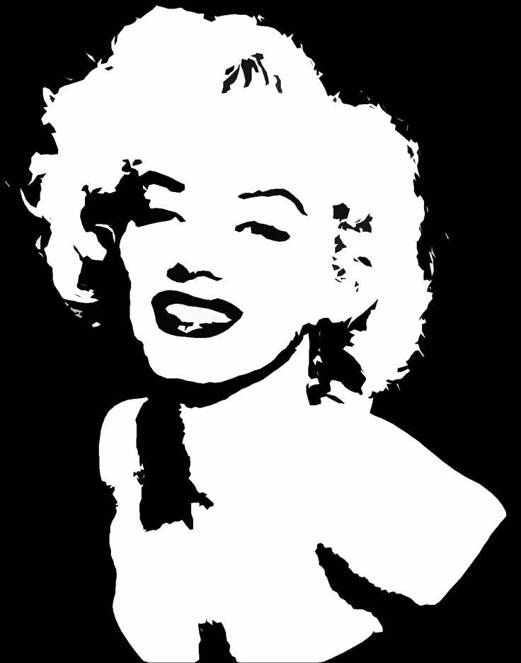Marilyn Monroe stencil http://youtu.be/kSEWOk2sk7U