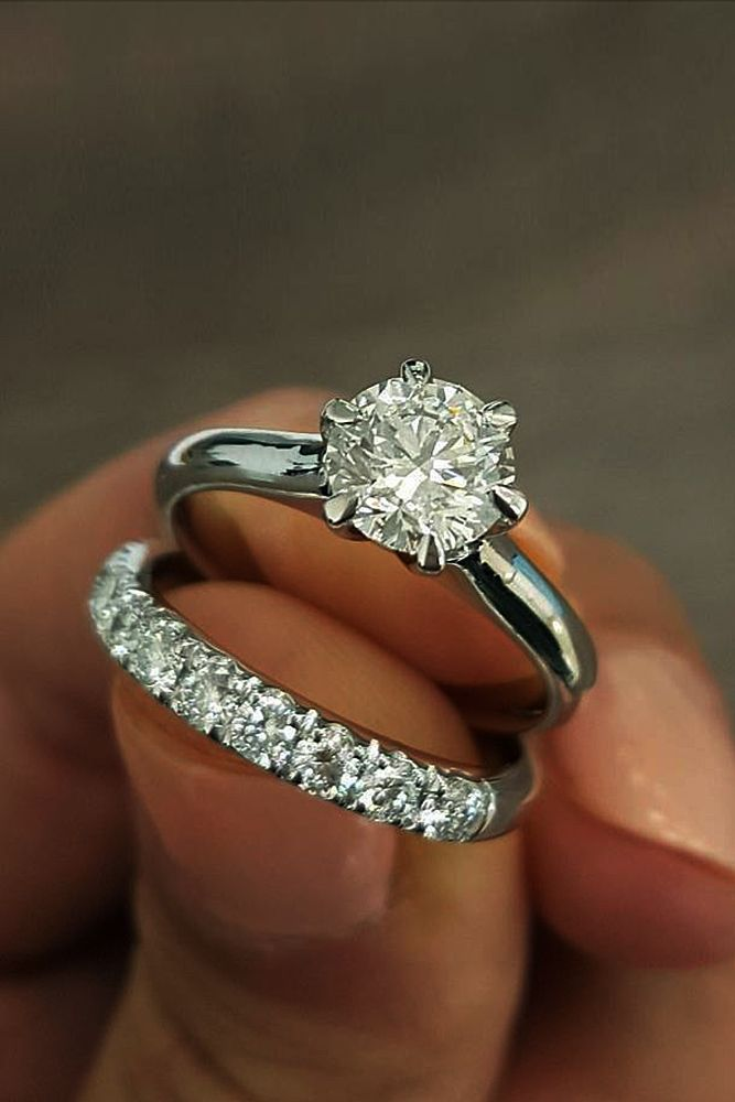 45 Great Bands And Wedding Rings That Admire Wedding Forward Wedding Rings Round Engagement Wedding Ring Sets Diamond Engagement Wedding Ring