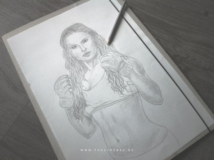 Ronda Rosey final Drawing // WIP