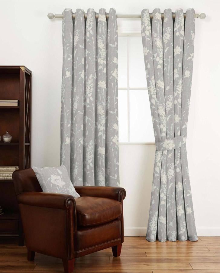 Dragonfly Garden Steel Curtain Fabric Grey Curtains Curtains Steel Curtain