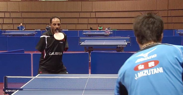 Ibrahim Hamato is a table tennis player of the highest caliber. That's pretty amazing, as Hamato has no arms.