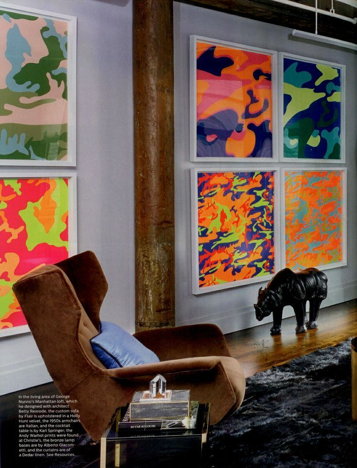 Hang it - Interiors Inspiration: Andy Warhol's Camouflage, 1987