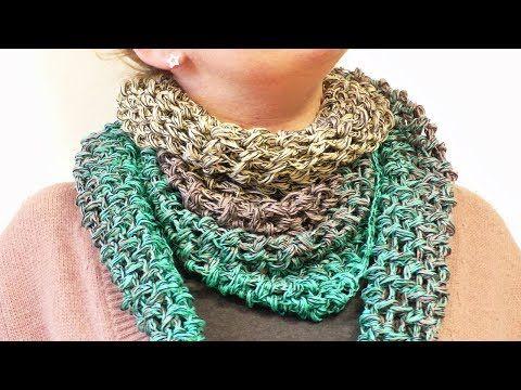 Häkeln für den Frühling | Dreieckstuch aus Bobbel Cotton Xtra von Woolly Hugs | Leichter Schal - YouTube