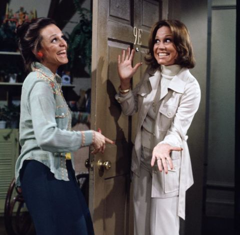 Mary and Rhoda in 'The Mary Taylor Moore Show' (1970-77). See 21 other female dynamic duos who kick ass on-screen.
