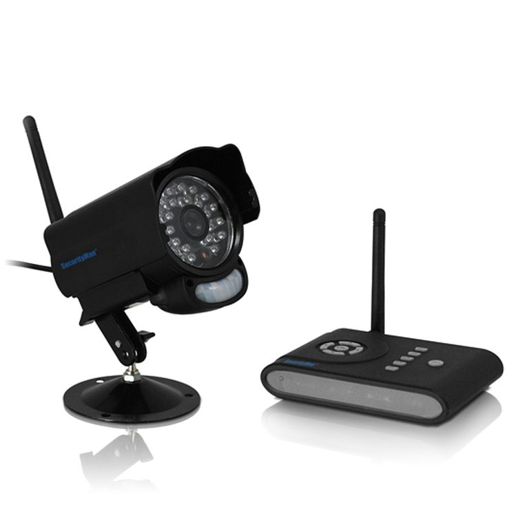SecurityMan DigiAir-SD Digital Outdoor Wireless Camera System Kit with PIR motion, 2-way Audio, Night Vision and SD Digital Video Recorder