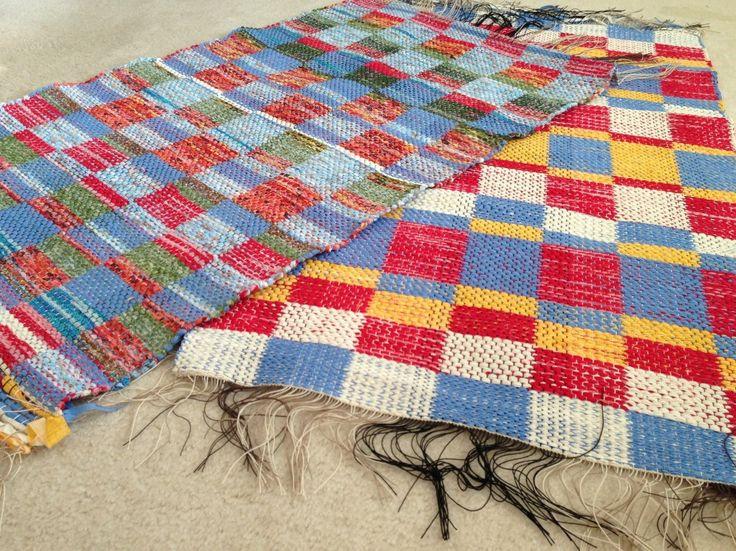 Rag rugs, ready to be hemmed.