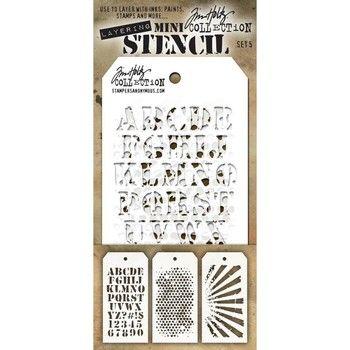 Tim Holtz Stencil Set 5
