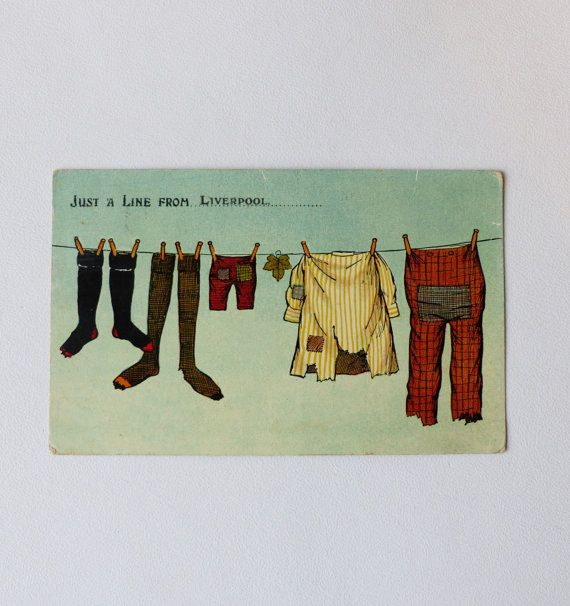 Just A Line From Liverpool Postcard by LFCcollectables on Etsy