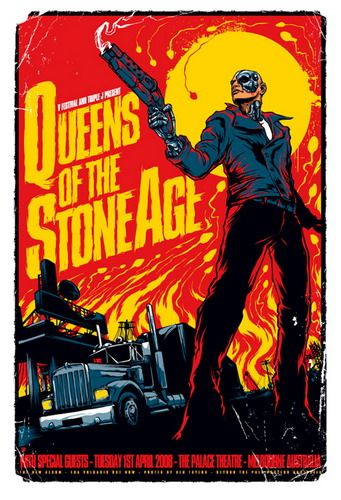 Next on my list. Queens of the Stone Age Concert Poster (Melbourne, 2008)