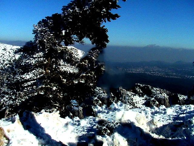 winter in greece - parnitha mοuntain