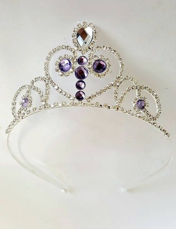 ******DO NOT COPY - ORIGINAL DESIGN BY STAR DUST SPARK 2017 **** Princess Sofia The First Crown - Magic Amulet PRINCESS SOFIA Tiara Princess Sofia Necklace The Perfect Christmas Gift ,Sofia costume Halloween. Very High Quality METAL CRYSTAL RHINESTONE TIARA Especially Designed For