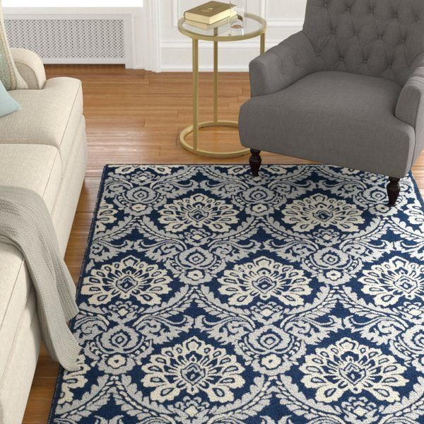 Bevis Hand Tufted Wool Navy Area Rug