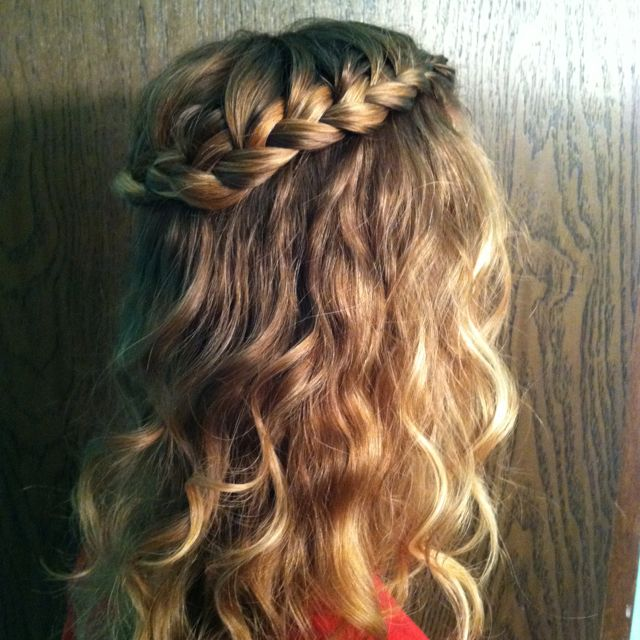 French Braid Half Up