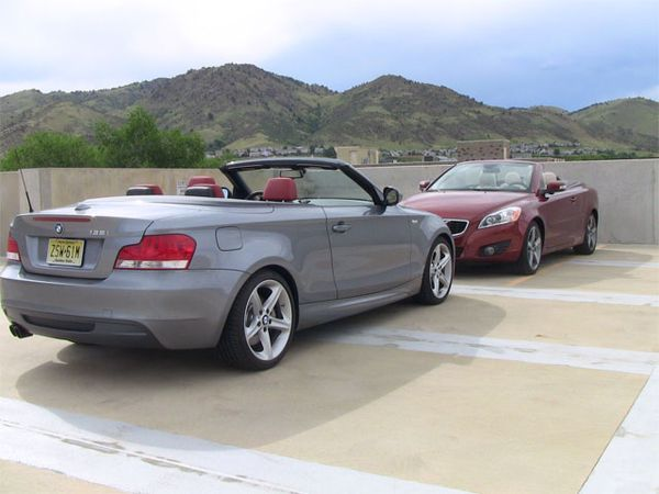 #Topless #turbo twosome video smack down: #BMW #135i #convertible vs. #Volvo #C70 #T5 by #tflcar