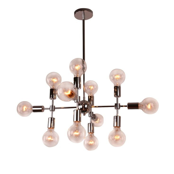 Unitary Modern Metal Geometric 12 Light Sputnik Chandelier. Sputnik  KronleuchterKronleuchterGeometrische MusterLeuchtenChrom FinishMetalle