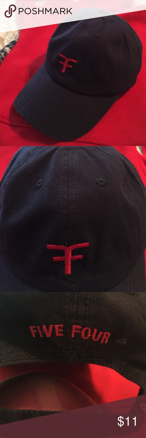 Five Four navy cap Five Four navy cap with red logo. New without tags Five Four Accessories Hats